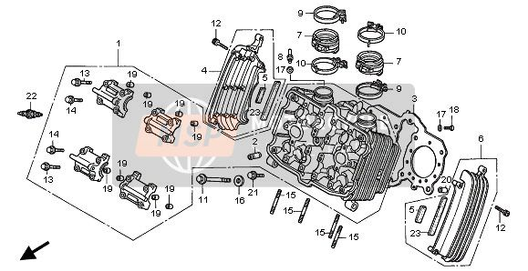 CYLINDER HEAD (FRONT)