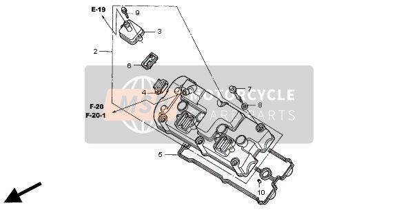 Honda CBR1100XX 2000 E-1 CYLINDER HEAD COVER  for a 2000 Honda CBR1100XX