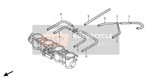 THROTTLE BODY (TUBING)
