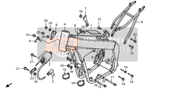 FRAME BODY & IGNITION COIL