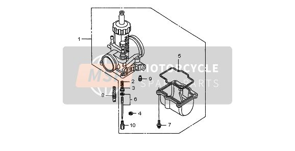 Honda CR250R 1998 E-13 CARBURETOR OPTIONAL PARTS KIT for a 1998 Honda CR250R