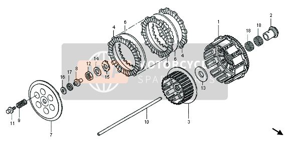 Honda CRF450X 2013 E-7 CLUTCH for a 2013 Honda CRF450X