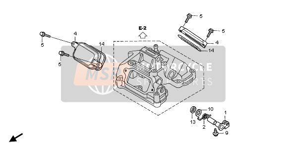 Honda XR650R 2002 E-1 TAPPET COVER for a 2002 Honda XR650R