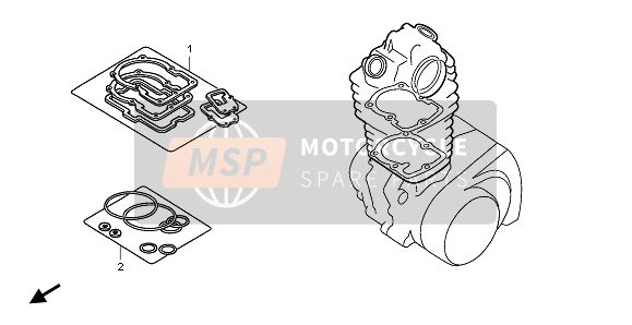 Honda XR650R 2002 EOP-1 GASKET KIT A for a 2002 Honda XR650R