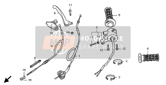 HANDLE LEVER & SWITCH & CABLE