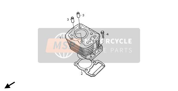 Honda XR125L 2005 E-4 CYLINDER for a 2005 Honda XR125L