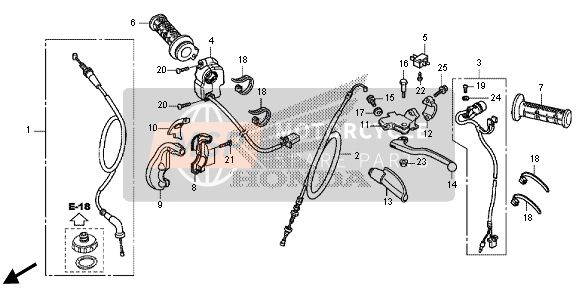 Honda CRF125F-SW 2014 F-1 HANDLE LEVER - SWITCH - CABLE for a 2014 Honda CRF125F-SW