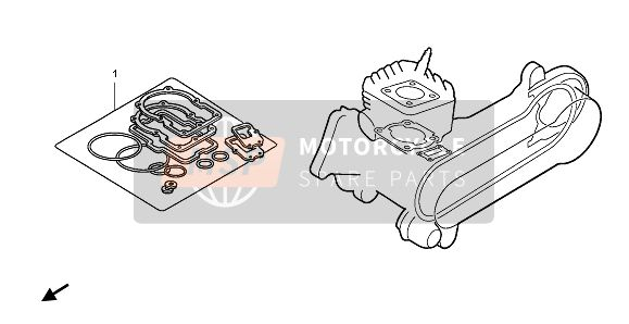 Honda CR80RB-LW 1997 EOP-1 GASKET KIT for a 1997 Honda CR80RB-LW