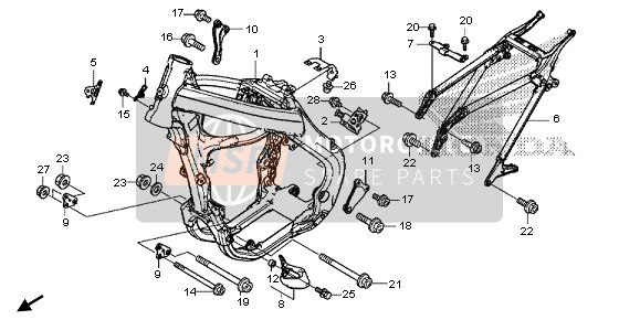 Honda CRF450R 2013 F-40 FRAME BODY for a 2013 Honda CRF450R