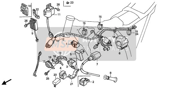 WIRE HARNESS & C.D.I. UNIT & IGNITION COIL