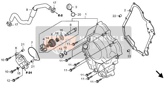 RIGHT CRANKCASE COVER & WATER PUMP
