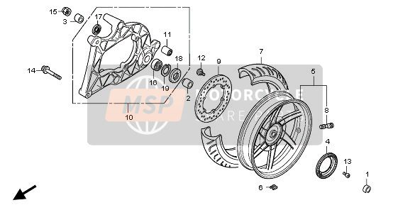 REAR WHEEL & SWINGARM