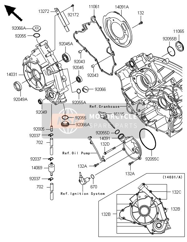 Kawasaki BRUTE FORCE 650 4x4i 2014 ENGINE COVER(S) for a 2014 Kawasaki BRUTE FORCE 650 4x4i