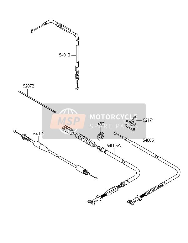Kawasaki BRUTE FORCE 750 4X4i EPS(GEF) 2014 CABLES for a 2014 Kawasaki BRUTE FORCE 750 4X4i EPS(GEF)
