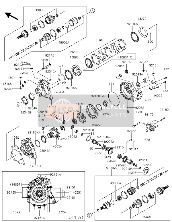 DRIVE SHAFT & FRONT