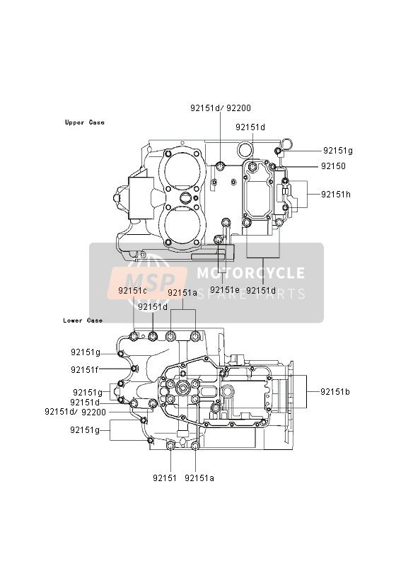 CRANKCASE BOLT PATTERN