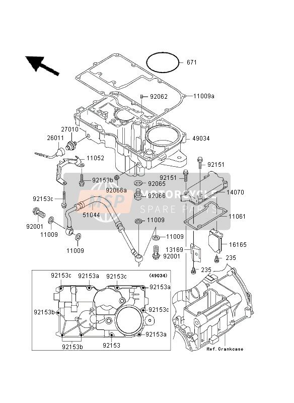BREATHER COVER & OIL PAN