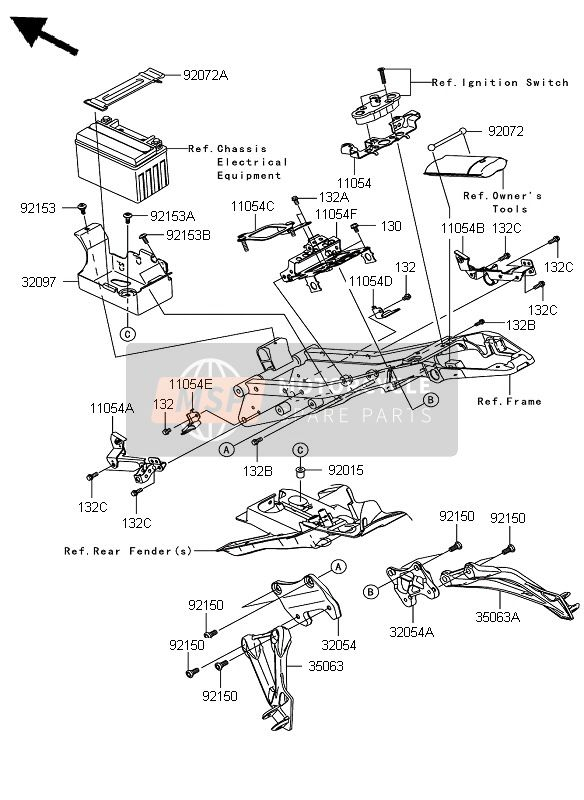 FRAME FITTINGS (REAR)