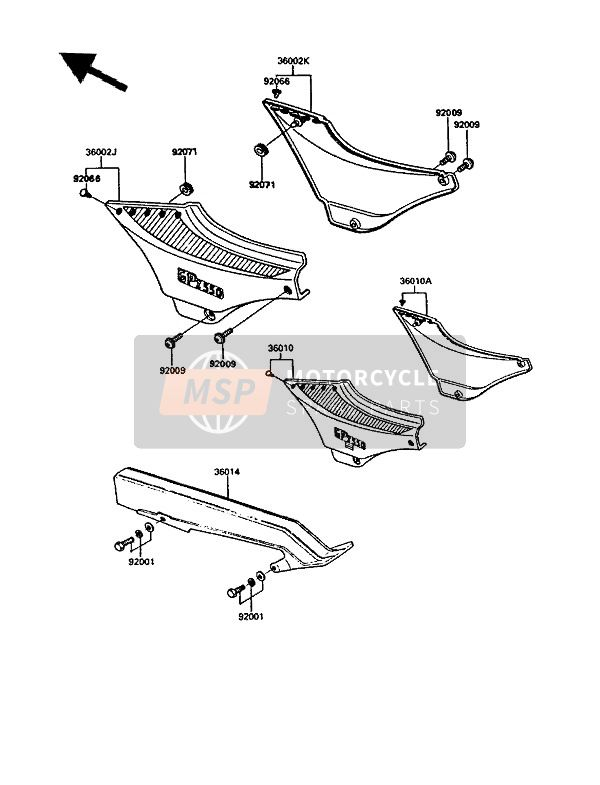 SIDE COVERS & CHAIN COVER