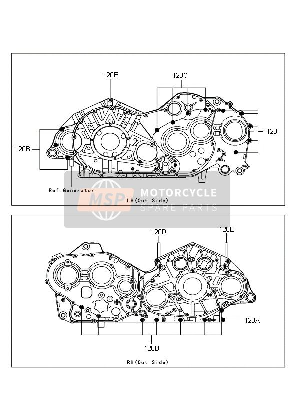 CRANK CASE BOLT PATTERN