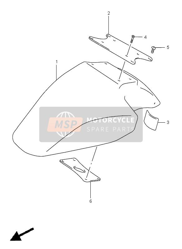 FRONT FENDER (GSF1200S-SA)