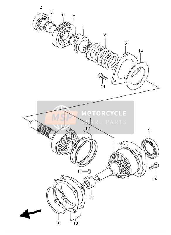 SECONDARY DRIVE GEAR