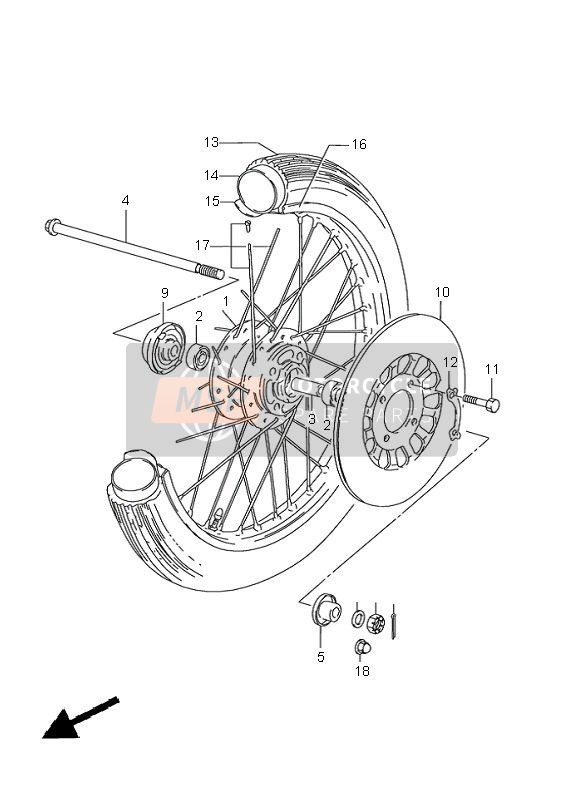 FRONT WHEEL (GN125)