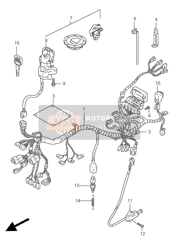 WIRING HARNESS (GSF1200-S)