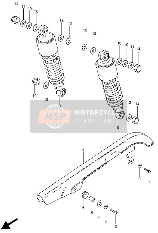 CHAIN CASE & SHOCK ABSORBER
