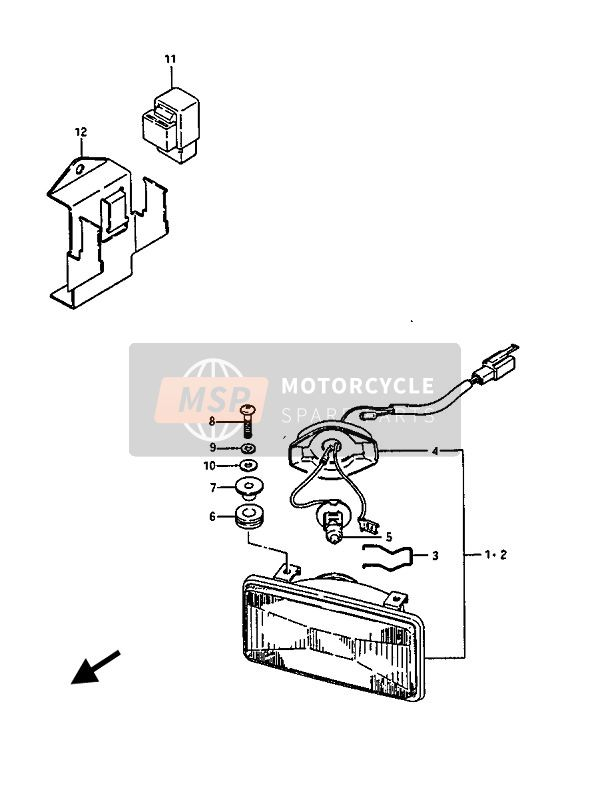 Suzuki GV1400(GD)(GC) 1987 Cornering Lamp (GV1400GC) for a 1987 Suzuki GV1400(GD)(GC)