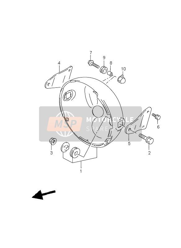 HEADLAMP HOUSING (WITHOUT COWLING)