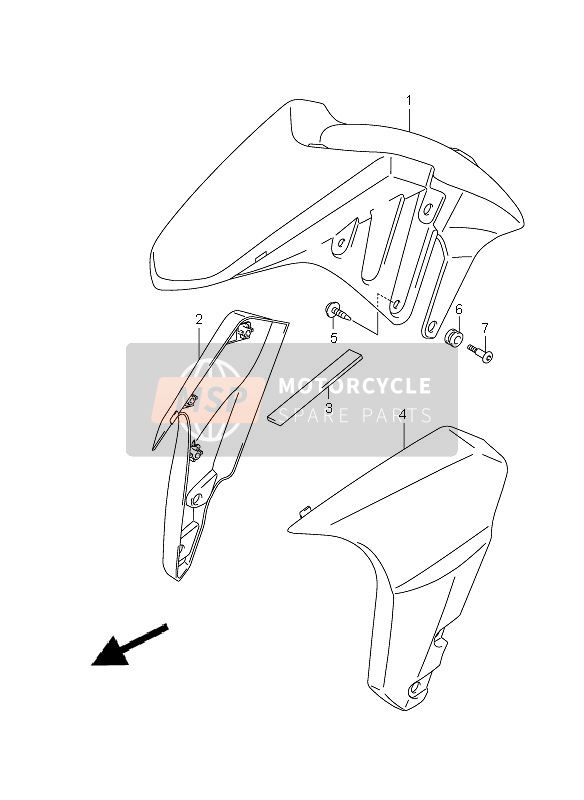 FRONT FENDER (WITHOUT ABS)