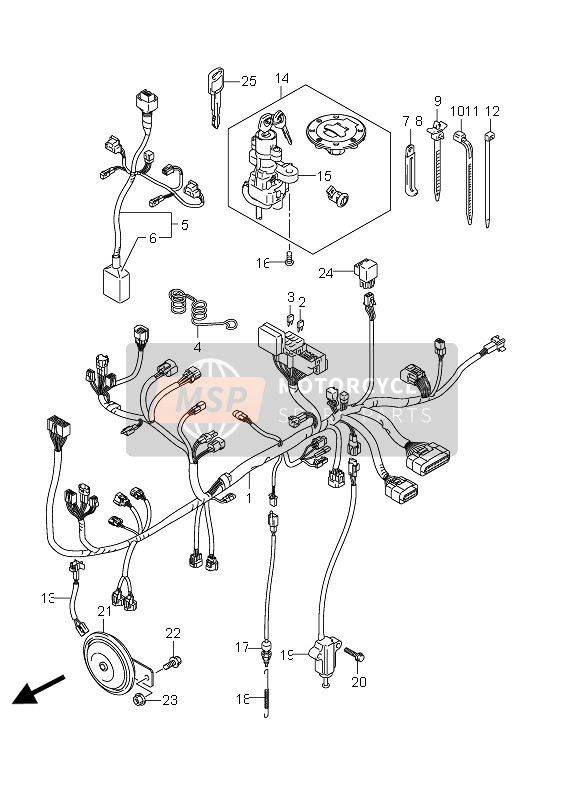 WIRING HARNESS (DL650 E19)