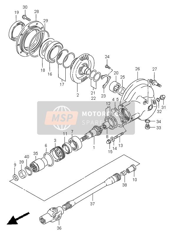 PROPELLER SHAFT & FINAL DRIVE GEAR