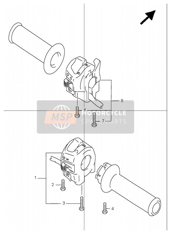 HANDLE SWITCH (GSF1200)