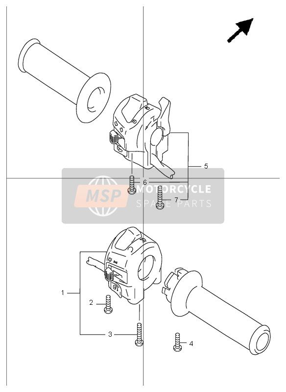 HANDLE SWITCH (GSF1200S)