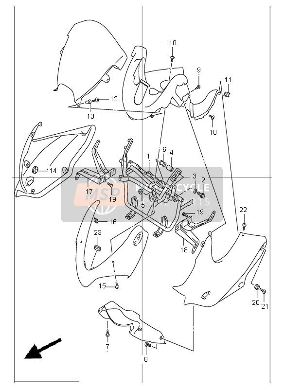 COWLING BODY INSTALLATION PARTS (GSF1200S)
