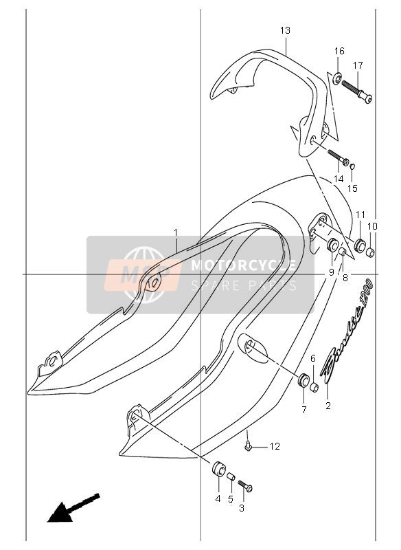 SEAT TAIL COVER (GSF1200)