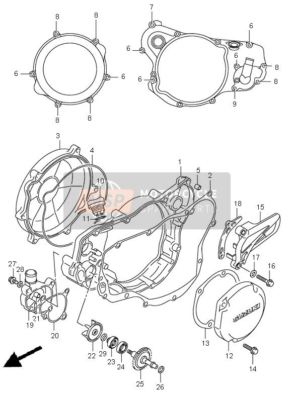 CRANKCASE COVER & WATER PUMP
