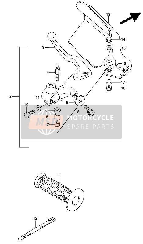 Suzuki DR650RSE(U) 1994 LEFT HANDLE LEVER  for a 1994 Suzuki DR650RSE(U)
