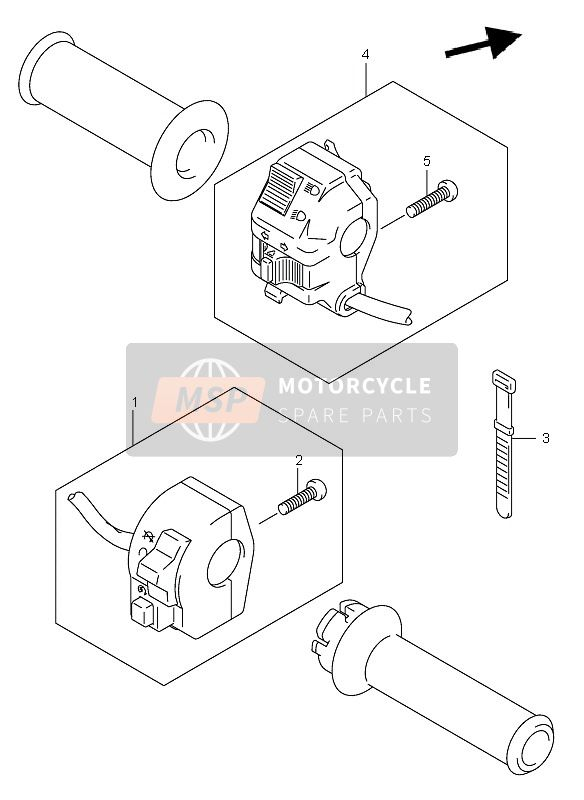 Suzuki DR-Z400(E) 2002 HANDLE SWITCH (DR-Z400E E24)   for a 2002 Suzuki DR-Z400(E)