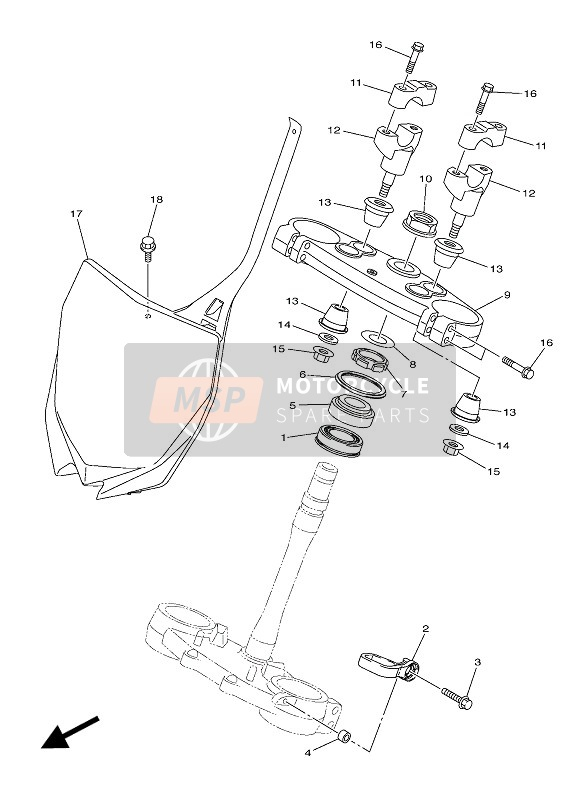 Yamaha YZ450F 60TH ANNIVERSARY 2016 STEERING for a 2016 Yamaha YZ450F 60TH ANNIVERSARY