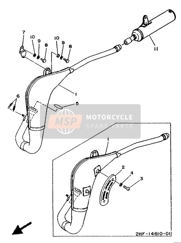 Yamaha YZ80 (LC & A) 1990 EXHAUST for a 1990 Yamaha YZ80 (LC & A)