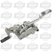 649420, Compleet Parkeren Hendel Assembly., Piaggio