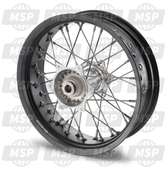 2611000104430, REAR WHEEL CPL. 5X17', Husqvarna